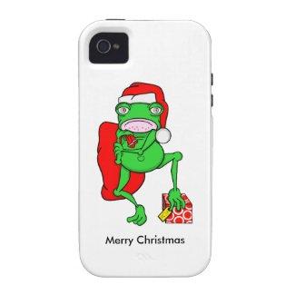 Cute Cartoon Frog Dressed As Santa iPhone 4 Covers