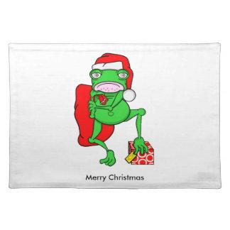 Cute Cartoon Frog Dressed As Santa Placemat