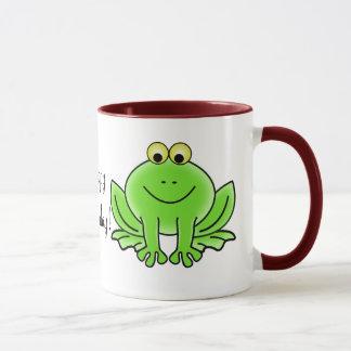 Cute Cartoon Frog Hoppy Birthday Funny Greeting Mug