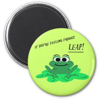 Cute Cartoon Frog Motivational Magnet