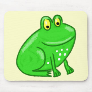 Cute Cartoon Frog Mouse Pad