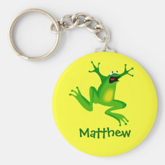 Cute Cartoon Frog Personalized Name Gift Key Chain