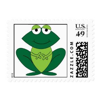Cute Cartoon Frog Postage