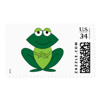 Cute Cartoon Frog Postage Stamp