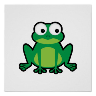 cartoon frog posters photo prints zazzle
