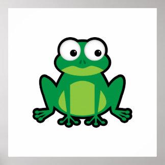 Cute Cartoon Frog Poster