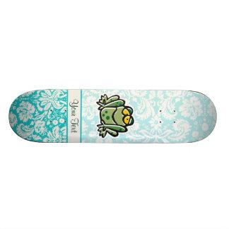 Cute Cartoon Frog Skateboard Deck
