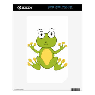 Cute Cartoon Frog Skins For The NOOK Color