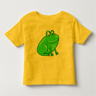 Cute Cartoon Frog Toddler T-shirt