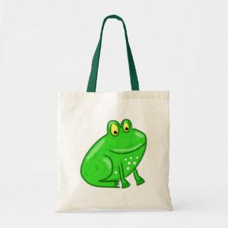 Cute Cartoon Frog Tote Bag