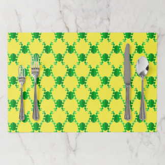 Cute Cartoon Frogs Paper Placemat