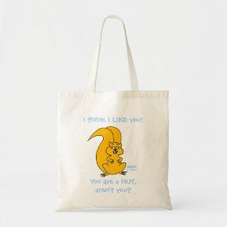 Cute Cartoon Funny Squirrel Tote Bag