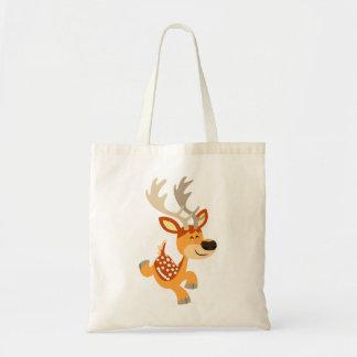 Cute Cartoon Gamboling Fallow Deer Bag