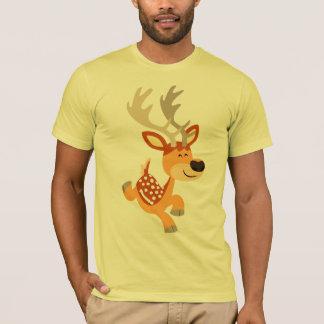 Cute Cartoon Gamboling Fallow Deer T-Shirt