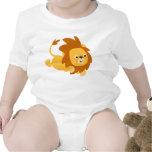 Cute Cartoon Gamboling Lion Baby Tee Shirts