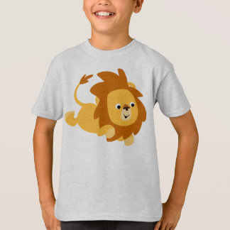 Cute Cartoon Gamboling Lion Children T-Shirt