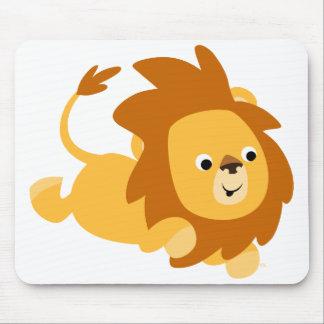 Cute Cartoon Gamboling Lion Mousepad