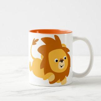 Cute Cartoon Gamboling Lion Mug