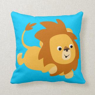 Cute Cartoon Gamboling Lion Pillow
