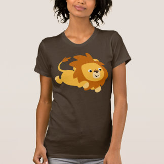 Cute Cartoon Gamboling Lion Women T-Shirt