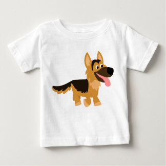 Cute Cartoon German Shepherd Dog Baby T-Shirt