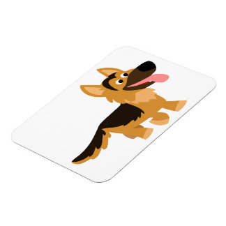 Cute Cartoon German Shepherd Dog Flexible Magnet