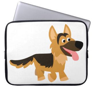 Cute Cartoon German Shepherd Dog Laptop Sleeve