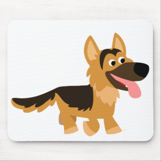Cute Cartoon German Shepherd Dog Mousepad