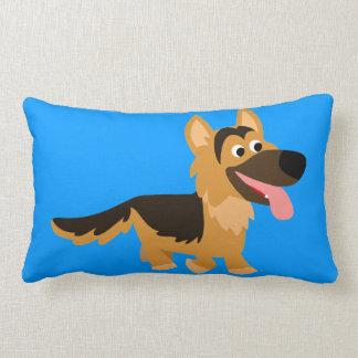 Cute Cartoon German Shepherd Dog Pillow