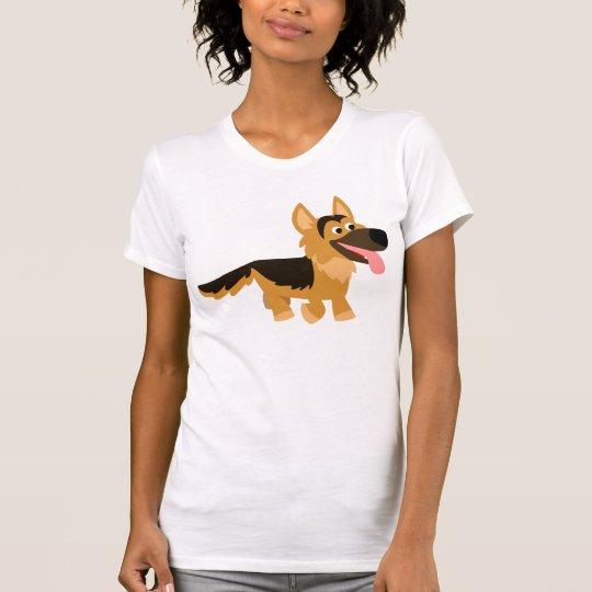 Cute Cartoon German Shepherd Dog Women T-Shirt
