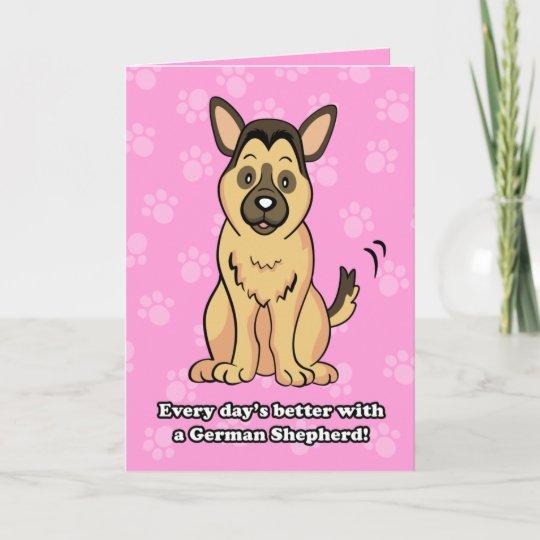 Cute cartoon german shepherd greeting card zazzle cute cartoon german shepherd greeting card m4hsunfo