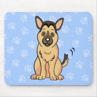 Cute Cartoon German Shepherd Mousepad
