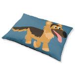 Cute Cartoon German Shepherd Pet Bed