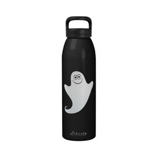 Cute cartoon ghost custom water bottle