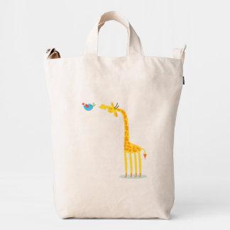 Cute cartoon giraffe and bird duck bag