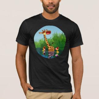 Cute Cartoon Giraffe and Ducklings T-Shirt
