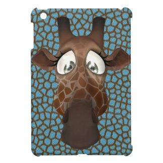 Cute Cartoon Giraffe Blue iPad Mini Case