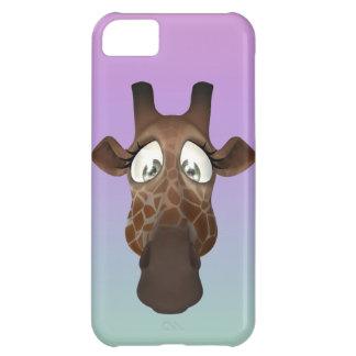 Cute Cartoon Giraffe Face iPhone 5C Covers