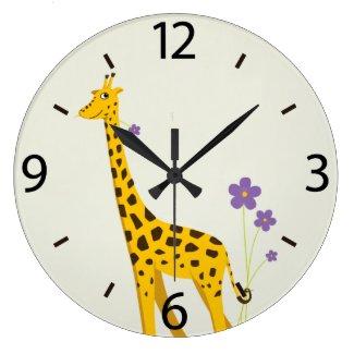 Cute Cartoon Giraffe Flowers