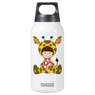 Cute Cartoon Giraffe Girl Thermos Bottle