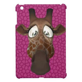 Cute Cartoon Giraffe Pink iPad Mini Case