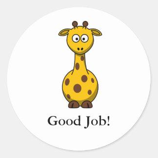 Cute Cartoon Giraffe Reward Stickers for School