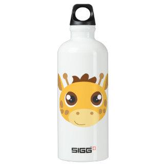 Cute Cartoon Giraffe Water Bottle