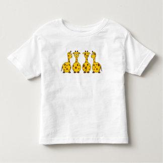 Cute Cartoon Giraffes with Spots Fun Kids Toddler T-shirt