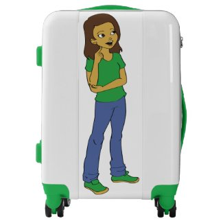 Cute Cartoon Girl Design Suitcase