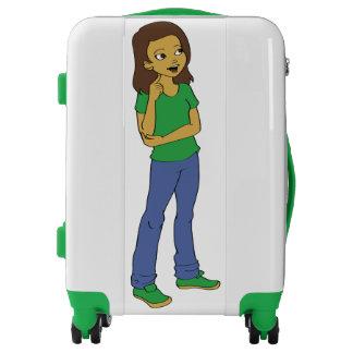 Cute Cartoon Girl Design Suitcase Luggage