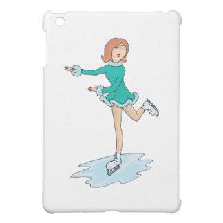 cute cartoon girl figure skating iPad mini cover