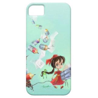 cute cartoon girl iPhone 5 Cases