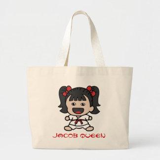Cute Cartoon Girl Karate Tote Bag