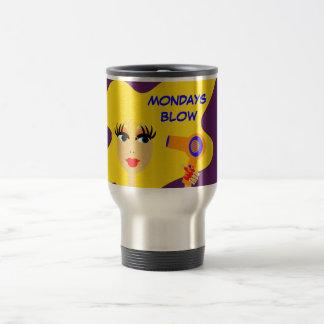 "Cute Cartoon Girl ""Mondays Blow"" Coffee Mug"